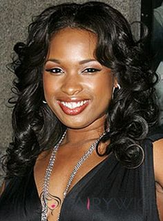 The Fresh Medium Wavy Black African American Lace Wigs for Women