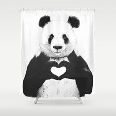 This is actually just a shower curtain that can be purchased from Society6, however, it is a piece of art that makes an artistic statement about racism that I like.  The Panda has been used as a symbol for racial equality, and the way his hands are formed into a heart makes that statement even stronger.  I like the peaceful statement that it makes, rather than a violent and tense one.