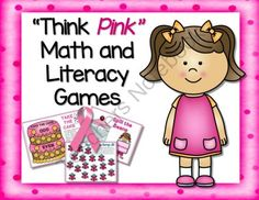Think Pink - Math and Literacy Activities from Sweet Integrations on TeachersNotebook.com -  (17 pages)  - With October being Breast Cancer Awareness Month, I've created a product with a pink theme.