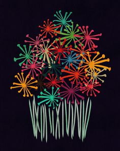 Poster | FLOWER BOUQUET von Budi Kwan | more posters at http://moreposter.de