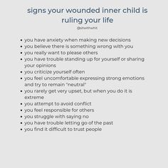 I believe that we all have an inner child. Sometimes that inner child is wounded after we experience neglect or trauma. Mental And Emotional Health, Emotional Healing, Mental Health Quotes, Emotional Awareness, Mental Health Awareness, Inner Child Healing, Dissociation, A Silent Voice, Psychology Facts