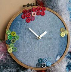 Rosi`s Hobbykiste: Stickrahmen Uhr
