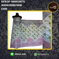 batik cap  bahan santyu ukuran 200cm x 110cm httptabinacobatik