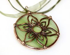 copper filigree over stained glass
