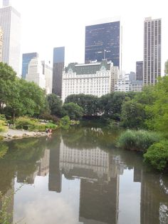 If I would make a Top Ten list of favorite New York City sights, the Plaza Hotel (overlooking the Central Park Pond) would be on it!