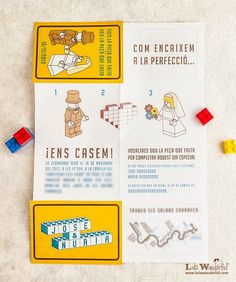 "Invitación ""Lego"" Lola Wonderful, Lego Wedding, Ideas Para Fiestas, Wedding Ceremony Decorations, Dream Wedding, Wedding Stuff, Wedding Ideas, Wedding Pictures, Beautiful Day"