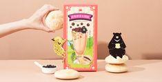 珍珠奶茶太陽餅為傳統點心與經典飲品的新興結合,以此為設計概念,運用手繪的手法繪製台灣持有物種「台灣黑熊、石虎」,傳遞出台灣的獨有特色。並加上珍珠的四射點綴、奶茶被群山圍繞的意境,不但營造出活潑可愛的律動感以外,也同時帶出台灣地形的特色,營造珍珠奶茶太陽餅的創新在地美味,重新詮釋傳統點心的包裝設計。