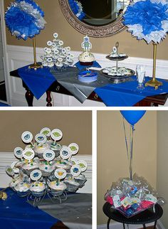 I really like this cupcake idea as opposed to a whole robot cake. So much easier!
