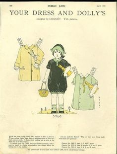 Easter - Child Life Magazine Paper Doll Your Dress Dolly's April 1927 Easter Chiquet | eBay