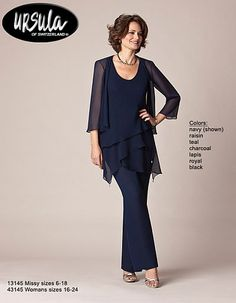 Ursula Plus Size Mother of the Bride Pantsuit 43145