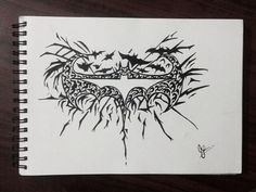 Doodling Time!!✌ #batman#doodles#tribal