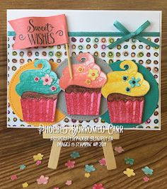 first birthday onederland How To Make Greetings, Cool Birthday Cards, Cupcake Card, Sweet Cupcakes, Kids Cards, Cool Cards, Homemade Cards, Stampin Up Cards, First Birthdays