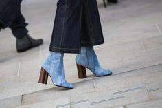 Louis Vuitton denim boots FW 2015