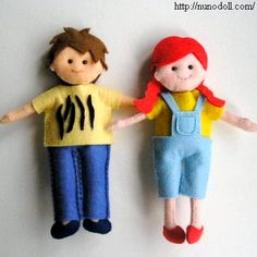 Free Patterns and Instructions for Felt Dolls and Clothing