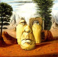 JORGE LUIS BORGES: El artista puertorriqueño Jósean Figueroacamufló al escritor argentino en esta imagen de san Ambrosio.