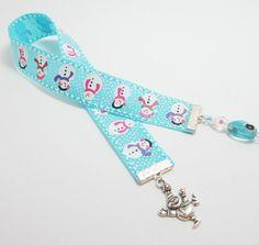 Aqua Snowman Ribbon Bookmark by WhispySnowAngel on Etsy, $8.00