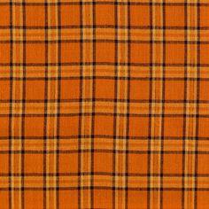 Orange & Metallic Plaid Fabric