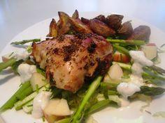 En verden af smag!: Kyllingelår med Sommersalat og Peberrodscreme