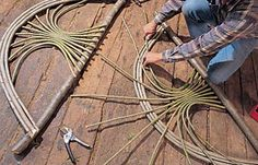How To Build a Green Sapling Arbor Project   ~  Birds and Blooms magazine shares a step by step process to inspire your creative nature to create garden projects from green branches. You can reuse material the is all around you to create a beautiful arbor… can you visualize trailing vines and flowering blooms climbing upon it ?