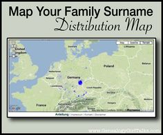 Map Your Family Surname - Distribution Map by Genealogy Girl Talks - so much fun and so interesting! Also helps you narrow down original spelling, if a family name was changed. Family Roots, All Family, Family Trees, Genealogy Search, Family Genealogy, Glasgow, Genealogy Websites, Genealogy Forms, Genealogy Chart