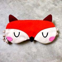 Sleep Eye Mask  The Fantastic Fox Orange by littleoddforest