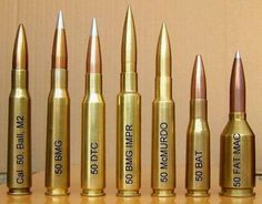 Different size .50 ammo