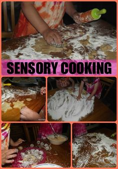 Another pinner said:  Using cooking with toddlers as a fun sensory experience. Great activity for those with SPD issues! 5 Family friendly recipes included.