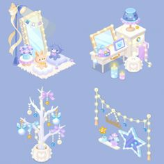 Dream Party, Kawaii, Prop Design, Sleepover Party, Game Item, Character Outfits, Pixel Art, Game Art, Avatar