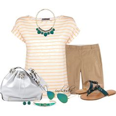 Striped Shirt and Shorts by imclaudia-1 on Polyvore featuring polyvore, fashion, style, Petit Bateau, J.Crew, Frye, Vince Camuto, White House Black Market, Sequin, Lucky Brand and Ray-Ban