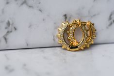 #hoops #earrings #goldearrings #goldhoops #jewellery #jewelry #aesethic #flatlay Gold Hoops, Gold Earrings, Gemstone Rings, Jewellery, Gold Stud Earrings, Jewels, Schmuck, Jewelry Shop, Jewlery