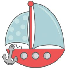 Sailboat With Anchor SVG