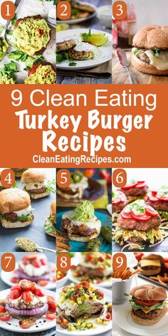 I really want to start cooking more with ground turkey, so I'm glad I found this list of Clean Eating turkey burger recipes.
