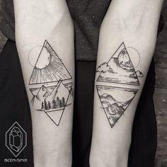 Los tatuajes minimalistas de Bicem Sinik