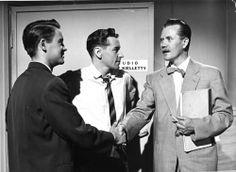 Pomus - 1960-1969 Lasse Liemola, Erkki Ertama ja Hannes Häyrinen Iskelmäketju-elokuvassa (Adams-Filmi/Erkki Ertaman arkisto)