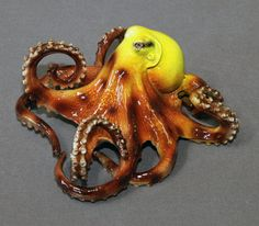FREE SHIPPING!!!  Your Choice Of Color!!!  Tammy Octopus  Limited Edition Bronze Cast using the Lost Wax casting method  Retail price is $1080  This Octopus is an ABSOLUTELY GORGEOUS BRONZE Sculpture by Northwest premier artist Barry Stein.  Oregon artist Barry Stein has creations gracing the most prestigious art collections and museums around the world. The Pentagon, Senator Gordon Smiths Office in Washington, DC, and in Oregon are just a few. Barrys sculptures have been purchased by the…