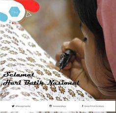 Selamat Hari Batik Nasional, Ayo generasi muda bangga pakai batik #batik #haribatiknasional #indonesia #hexxa #privat #homeschooling
