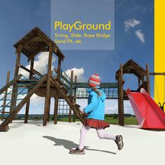 model Playground for children fun gym jungle jungle-gym, available formats BLEND, ready for animation and other projects