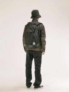 From the BLANKOF lookbook. Love the triangular panels of the backpack, and the use of the bucket hat!