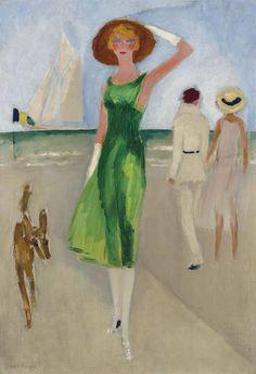 Kees van Dongen (1877-1968) L'élégante au chapeau signed 'Van Dongen' (lower left) oil on canvas 29 x 19 3/4 in. (73.9 x 50.3 cm.) Painted circa 1930