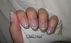 Grey French by TokiaNails - Nail Art Gallery nailartgallery.nailsmag.com by Nails Magazine www.nailsmag.com #nailart