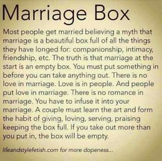 Marriage box.