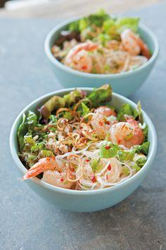 Recipe Roundup: Asian Noodles (Glass-Noodle Salad with Shrimp, Chicken & Mint)