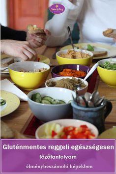 Gluténmentes reggeli egészségesen főzőtanfolyam Smoothie, Tacos, Mexican, Chips, Ethnic Recipes, Food, Potato Chip, Essen, Smoothies