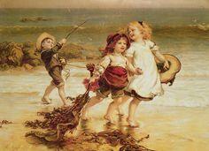 Frederick Morgan (English painter, 1847 - 1927) - Sea Horses