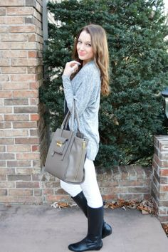 How to wear white jeans in fall/winter | Automne-Hiver | Pinterest ...