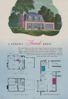 A Compact French House Page 18 of a 1944 brochure brought to you by the Nash-Kelvinator Corp.