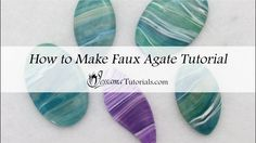 Faux Agate Polymer Clay Pendant Tutorial - YouTube