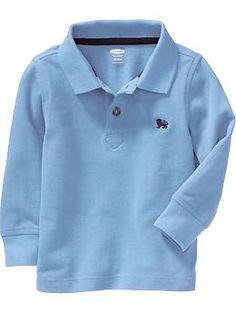 Long-Sleeve Pique Polos for Baby | Old Navy