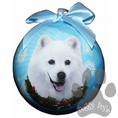American Eskimo Shatterproof Dog Breed Christmas Ornament - http://doggystylegifts.com/collections/christmas-ball-ornaments/products/american-eskimo-shatterproof-dog-breed-christmas-ornament