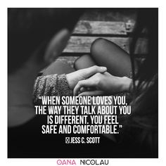 """When someone loves you, the way they talk about you is different. You feel safe and comfortable.""  ― Jess C. Scott ❤ Check oananicolau.com for a #freebie #romantic #romance #quotes #romanticquotes #lovequotes Quotes For Him, Love Quotes, Couple Therapy, When Someone Loves You, Love Articles, Couple Activities, Old Couples, Romance Quotes, Live Happy"